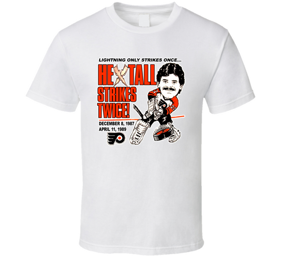 Ron Hextall Philadelphia Hockey Retro Caricature T Shirt