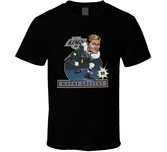 Wayne Gretzky LA Hockey Retro Caricature T Shirt