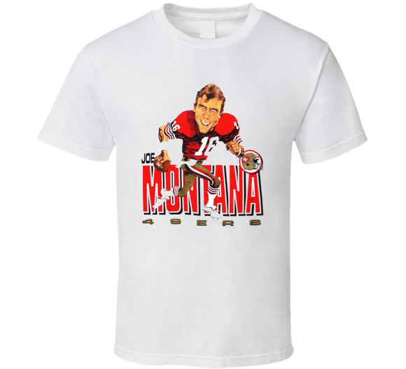 Joe Montana San Francisco Football Retro Caricature T Shirt