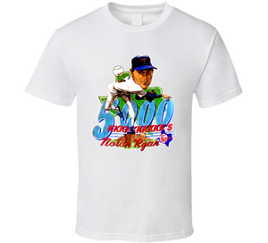 Nolan Ryan 5000ks Texas Baseball Retro Caricature T Shirt
