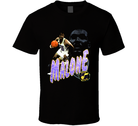 Karl Malone Utah Legend Retro Basketball T Shirt