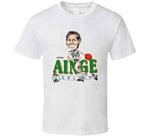 Danny Ainge Boston Basketball Retro Caricature T Shirt