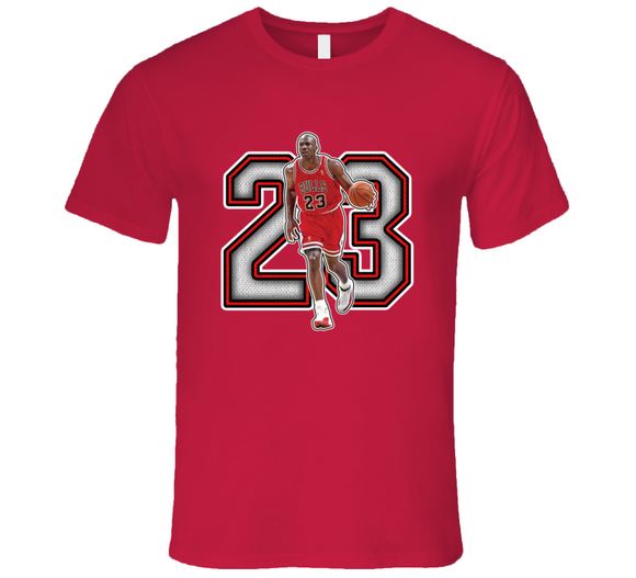 Michael Jordan Chicago Basketball Legend Retro Sports T Shirt
