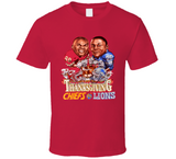 Barry Sanders 1996 Thanksgiving Football Retro Caricature T Shirt