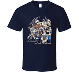 Emmitt Smith 22 Dallas Football Retro Caricature T Shirt