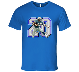 Barry Sanders Football Legend Retro Sports T Shirt