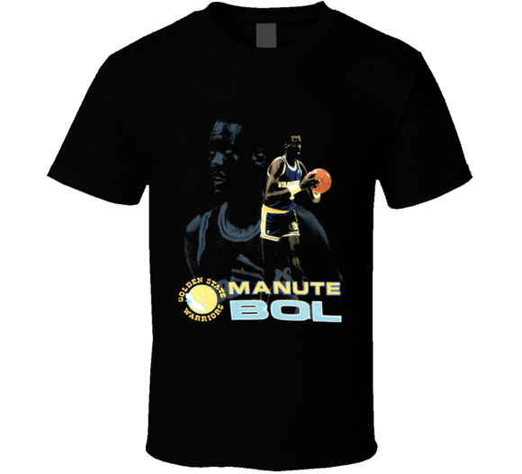 Manute Bol Golden State Retro Basketball T Shirt