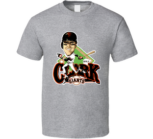 Will Clark San Francisco Baseball Retro Caricature T Shirt