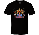 Slam Dunk Champions Basketball Retro Caricature T Shirt