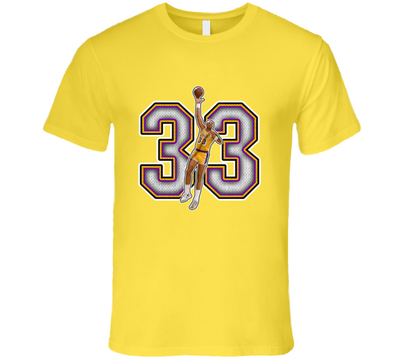 Kareem Abdul Jabbar Los Angeles Retro Basketball Legend T Shirt