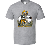 Brett Favre Green Bay Football Retro Caricature T Shirt