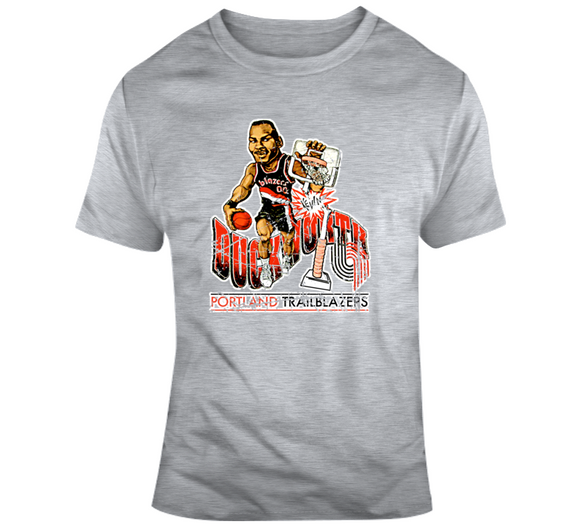 Kevin Duckworth Basketball Portland Distressed Retro Caricature T Shirt