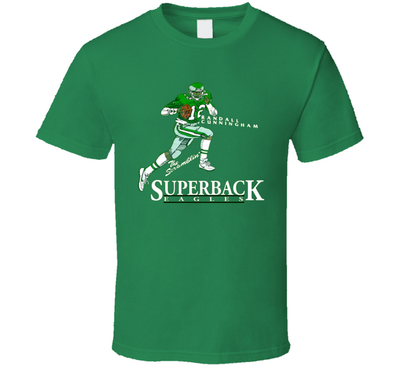 Randall Cunningham Philadelphia Football Retro Caricature T Shirt