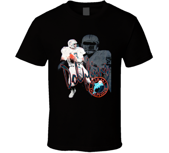 Dan Marino Miami Retro Football T Shirt
