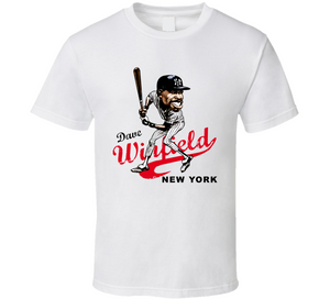 Dave Winfield New York Baseball Retro Caricature T Shirt