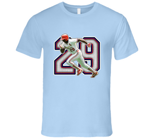 Vince Coleman St Louis Baseball Legend Retro T Shirt