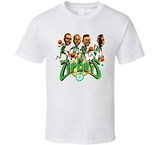 Boston Basketball Zip Boys Retro Caricature T Shirt