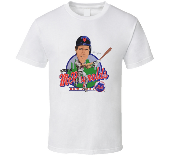 Kevin McReynolds New York Baseball Retro Caricature T Shirt