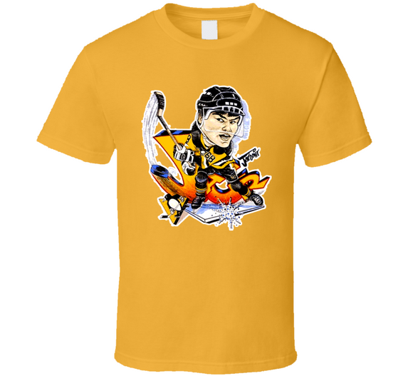 Jaromir Jagr 68 Pittsburgh Hockey Retro Caricature T Shirt