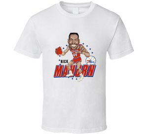 Rick Mahorn Philadelphia Basketball Retro Caricature T Shirt