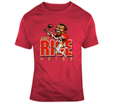 Jerry Rice San Francisco Football Distressed Retro Caricature T Shirt