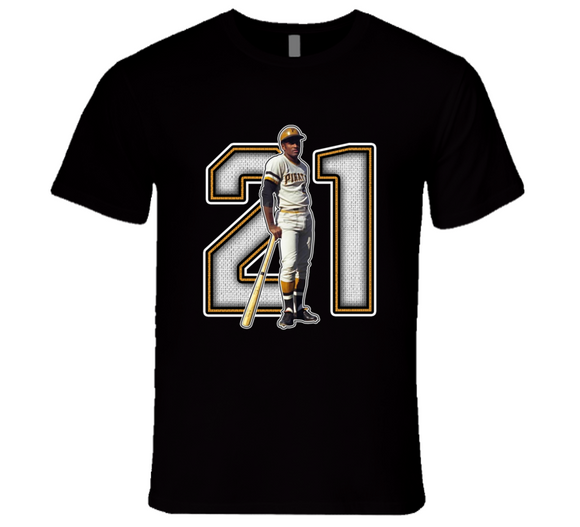 Roberto Clemente Baseball Legend Retro T Shirt
