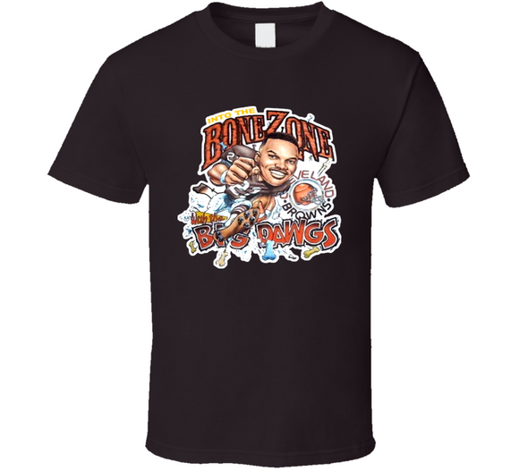 Eric Metcalf Bone Zone Cleveland Football Retro Caricature T Shirt