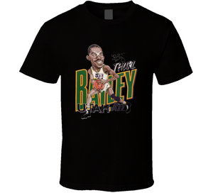 Thurl Bailey Utah Basketball Retro Caricature T Shirt