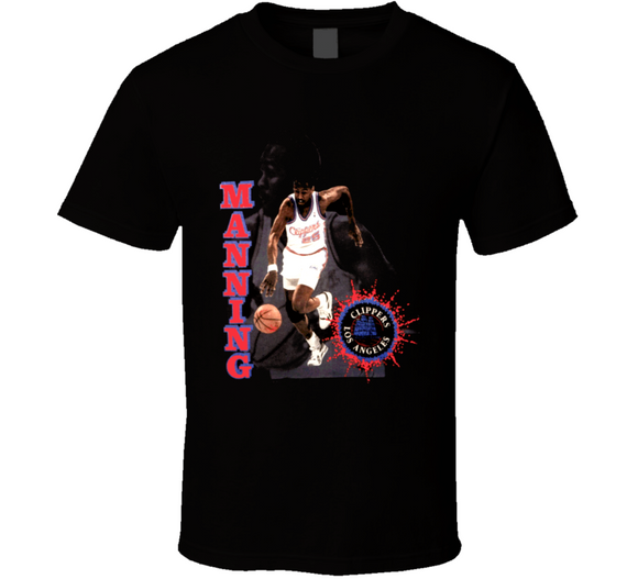 Danny Manning Los Angeles Retro Basketball T Shirt