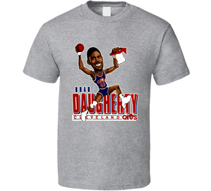 Brad Daugherty Cleveland Basketball Retro Caricature T Shirt