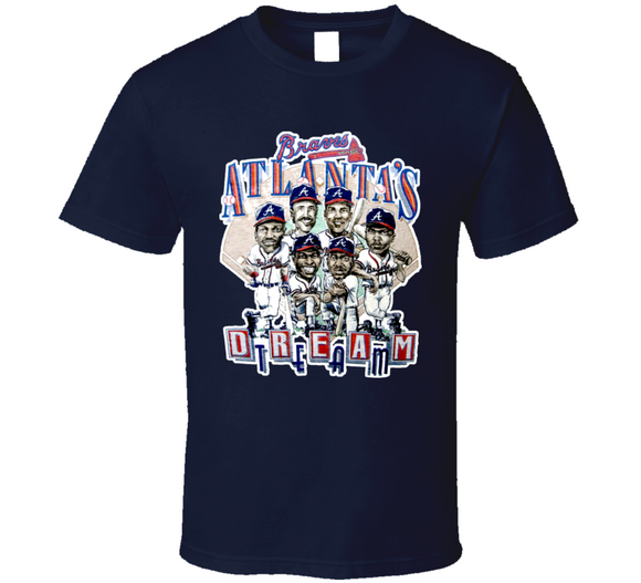 Atlanta Dream Team Baseball Retro Caricature T Shirt