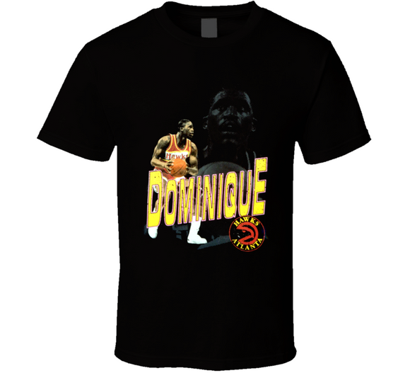 Dominique Wilkins Atlanta Retro Basketball T Shirt