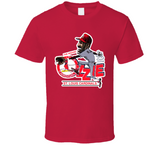 Ozzie Smith St Louis Baseball Retro Caricature T Shirt