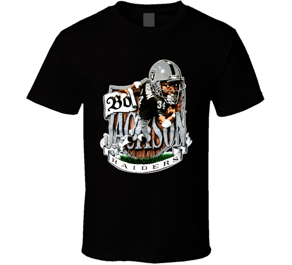 Bo Jackson Los Angeles Football Retro Caricature T Shirt