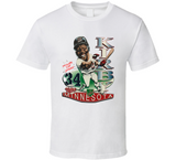 Kirby Puckett Minnesota Baseball Legend Retro Caricature T Shirt