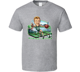 Larry Bird Larry The Legend Boston Basketball Retro Caricature T Shirt