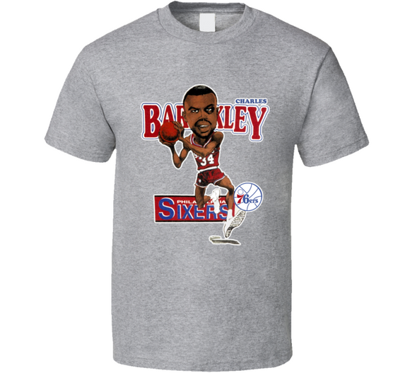 Charles Barkley Philadelphia Basketball Retro Caricature T Shirt
