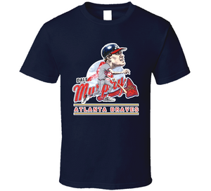 Dale Murphy Atlanta Baseball Retro Caricature T Shirt