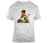 Kevin Mitchell San Francisco Baseball Distressed Retro Caricature T Shirt