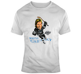 Wayne Gretzky Hockey Los Angeles Distressed Retro Caricature T Shirt