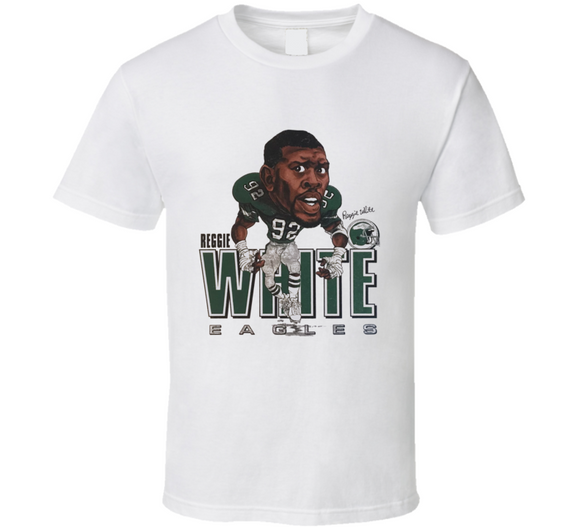 Reggie White Philadelphia Football Legend Retro Caricature T Shirt