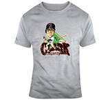 Will Clark 22 Baseball San Francisco Distressed Retro Caricature T Shirt