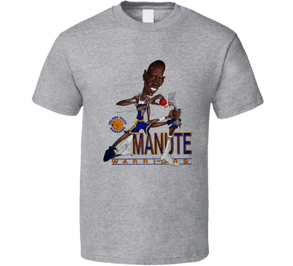 Manute Bol Golden State Basketball Caricature Retro Sports T Shirt
