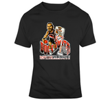 Kevin Duckworth Portland Basketball Distressed Retro Caricature T Shirt
