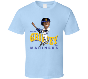 Ken Griffey Jr The Kid Seattle Baseball Retro Caricature T Shirt