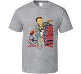 Shawn Bradley Philadelphia Basketball Caricature Retro Sports T Shirt