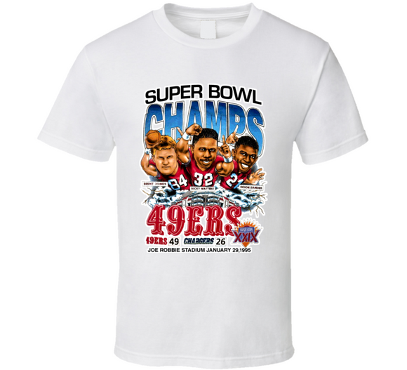 Deion Sanders San Francisco Football Retro Caricature T Shirt