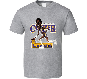 Michael Cooper Los Angeles Basketball Retro Caricature T Shirt