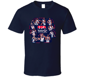 USA Basketball Team Retro Caricature T Shirt