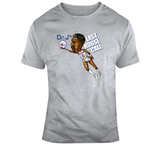 Dr J Julius Erving Phi Basketball House Call Distressed Retro Caricature T Shirt